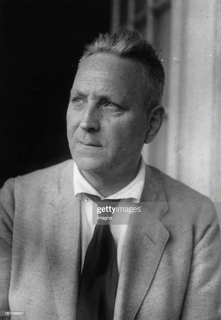 Austrian ethnologist Richard Thurnwald. Portrait. About 1930. Photograph. (Photo by Imagno/Getty Images) Der österreichische Ethnologe Richard Thurnwald. Portrait. Um 1930. Photographie.