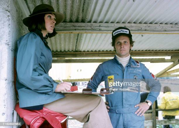 Austrian F1 racing driver Niki Lauda and his first wife, Marlene Knaus, on July 01, 1974 in Brands Hatch England.