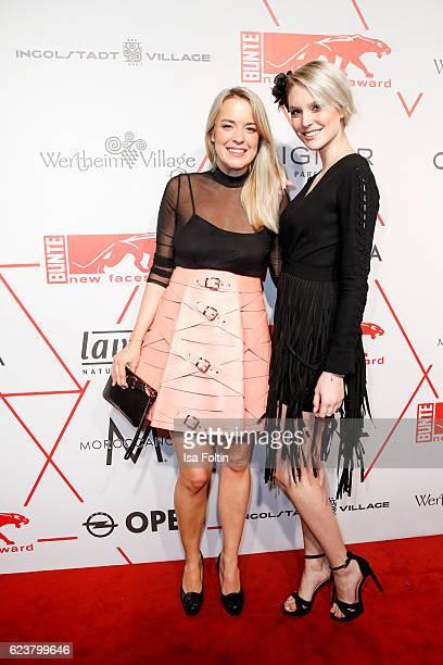 Austrian fashion designer Marina Hoermanseder and german model Kim Hnizdo attend the New Faces Award Fashion 2016 the New Faces Award Fashion 2016 on...