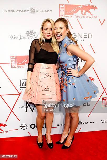 Austrian fashion designer Marina Hoermanseder and singer songwriter Victoria Swarovski attend the New Faces Award Fashion 2016 the New Faces Award...