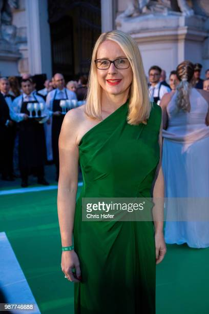 Austrian Federal Minister for Digital and Economic Affairs Margarete Schramboeck during the Fete Imperiale 2018 on June 29 2018 in Vienna Austria