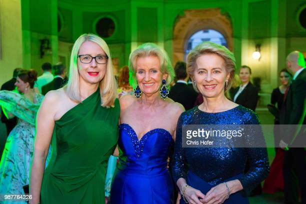 Austrian Federal Minister for Digital and Economic Affairs Margarete Schramboeck, Elisabeth Guertler, German Defence Minister Ursula von der Leyen...