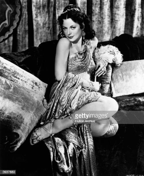 Austrian film actress Hedy Lamarr plays 'Delilah' in the film 'Samson and Delilah'