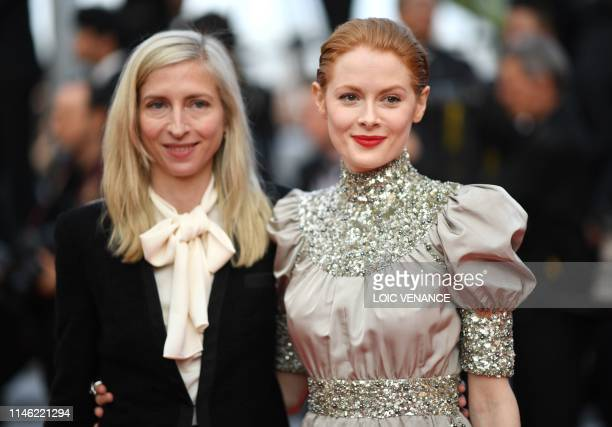 Austrian film director Jessica Hausner and British actress Emily Beecham arrive for the screening of the film The Specials at the 72nd edition of the...