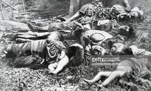 Austrian forces crossed the Sava and seized Serbian town of Chabatz where a massacre of civilians occurred at the outset of world war one