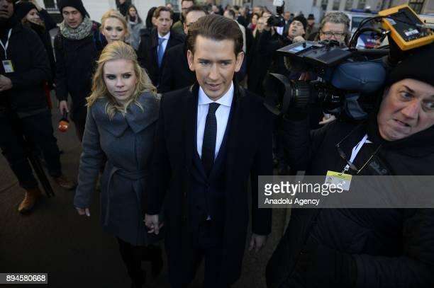 Austrian Foreign Minister and the leader of the Austrian Peoples Party Sebastian Kurz and leader of the right wing Austrian Freedom Party...