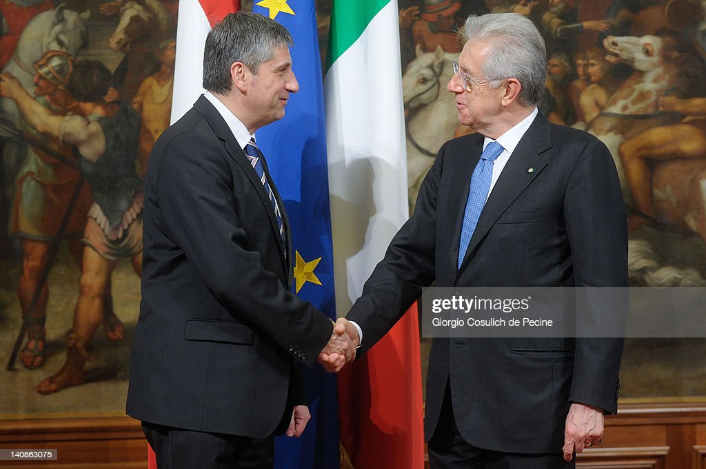 Mario Monti Meets Michael Spindelegger