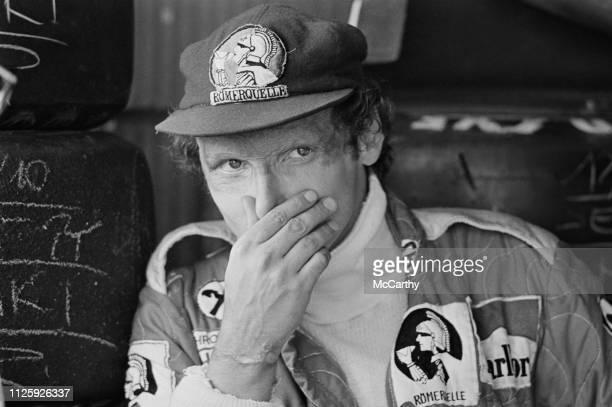 Austrian Formula One driver Niki Lauda at the Dutch Grand Prix Circuit Park Zandvoort Netherlands 1st September 1977