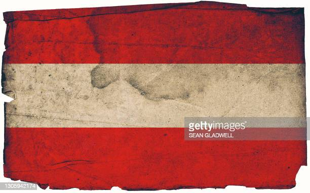 austrian grunge flag - insignia stock pictures, royalty-free photos & images