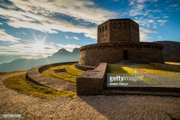 Austrian Military Memorial - Passo Pordoi. Dolomites mountains, Italia.
