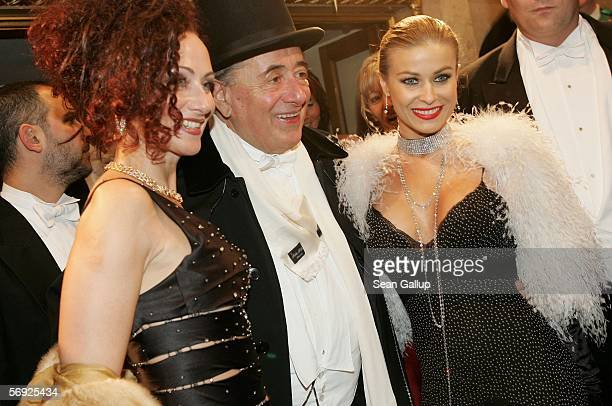 Austrian millionaire Richard Lugner his wife Christina Lugner and his guest actress Carmen Electra attend the 50th Vienna Opera Ball at the Vienna...