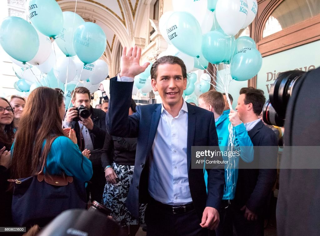 Sebastian Kurz Speaks at OeVP Headquarters Prior To Parliamentary Elections