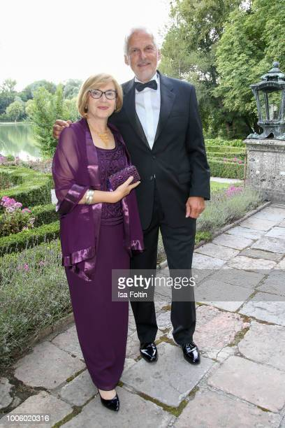 Austrian Minister of Justice Josef Moser and his wife Daniela Moser during the ISA gala at Schloss Leopoldskron on July 26 2018 in Salzburg Austria