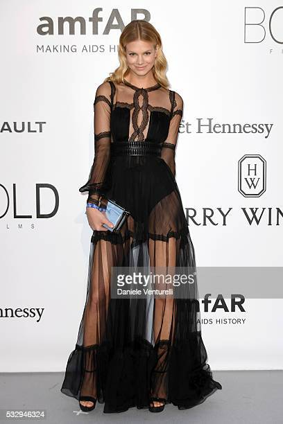 Austrian model Nadine Leopold attends the amfAR's 23rd Cinema Against AIDS Gala at Hotel du CapEdenRoc on May 19 2016 in Cap d'Antibes France