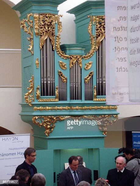 Austrian musician and composer Josef Haydn's organ on which he composed and played many of his works is displayed on March 30 2009 in the...