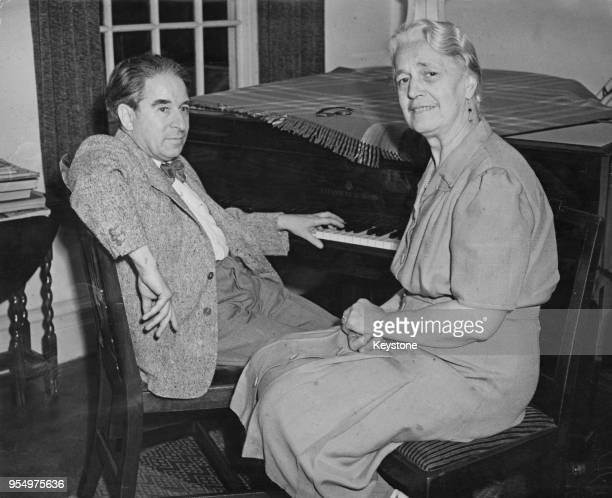Austrian musician Erwin Stein and his wife Sophie Bachmann in their flat in Kensington, London, 21st July 1949. They are the parents of pianist...