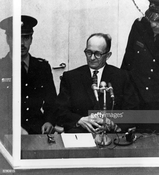 Austrian Nazi war criminal Karl Adolf Eichmann on trial in Jerusalem