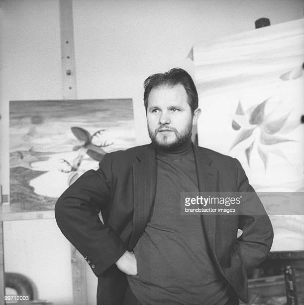 Austrian Painter Anton Lehmden Photograph 1968 Photo by Barbara Pflaum