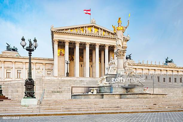 austrian parliament building - vienna austria stock pictures, royalty-free photos & images