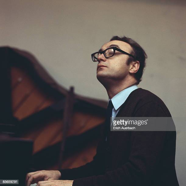 Austrian pianist Alfred Brendel at the piano circa 1970