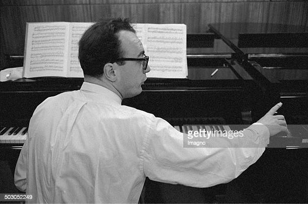Austrian pianist Alfred Brendel Masterclass for piano Vienna About 1969 Photograph by Franz Hubmann