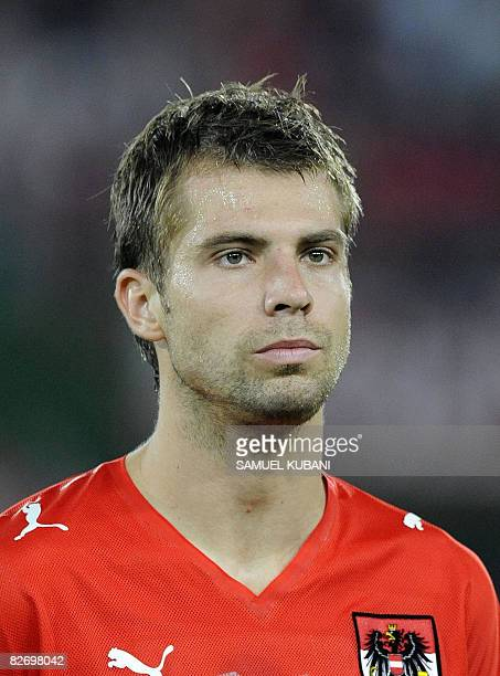 Austrian player Andreas Ivanschitz is pictured in ErnstHappel stadium in Vienna on September 6 2008 prior to a World Cup 2010 qualifying football...