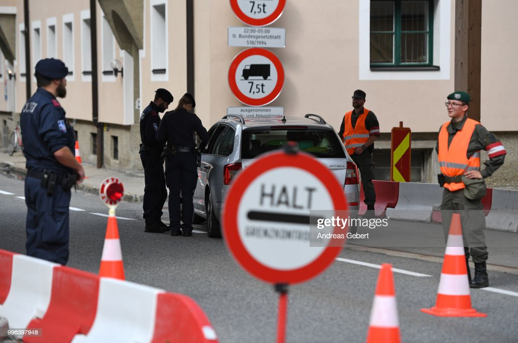 Border Control Between Austria and Italy Due to Interior and Justice Ministers Conference : News Photo