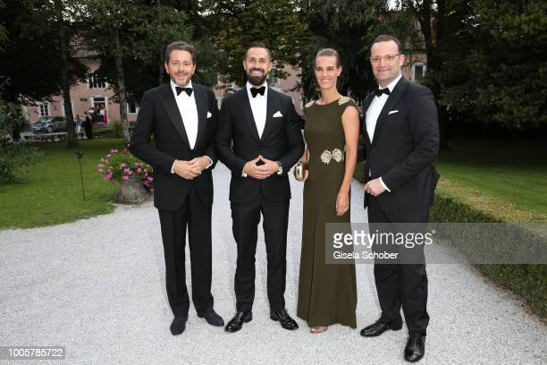 Austrian politician Harald Mahrer and his wife Andrea Samonigg-Mahrer, Daniel Funke and his husband minister Jens Spahn during the ISA gala at...