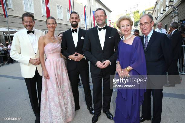 Austrian politician Harald Mahrer and his wife Andrea Samonigg-Mahrer, Daniel Funke and his husband Minister Jens Spahn, Adelaida Calligaris and her...