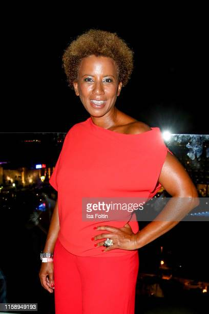 Austrian presenter Arabella Kiesbauer attends the Remus Lifestyle Night on August 1 2019 in Palma de Mallorca Spain