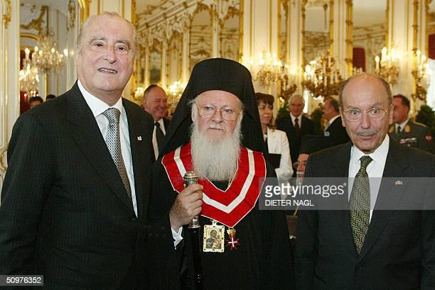 Austrian president Thomas Klestil the patriarch of the Greek church Bartholomaios from Konstantinopel and the Greek president Konstantinos...