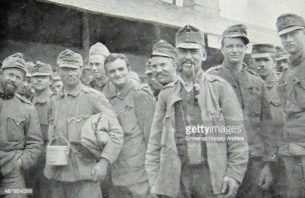 Austrian prisoners of war captured by the French army during world war One 1917