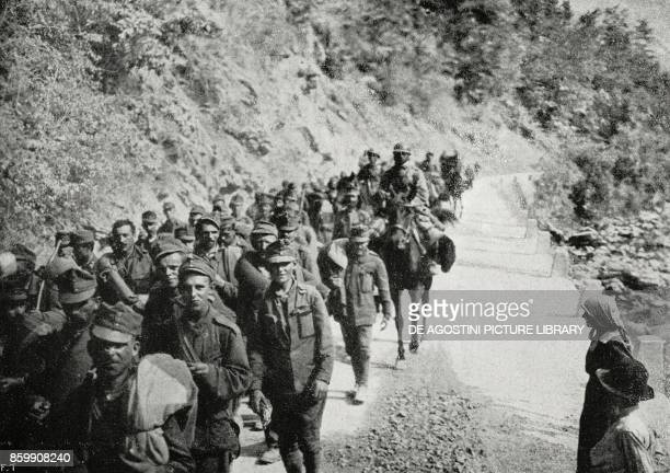 Austrian prisoners Slovenia XI Battle of the Isonzo World War I from L'Illustrazione Italiana Year XLIV No 35 September 2 1917