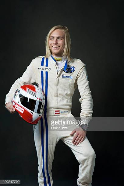 Austrian race car driver Niki Lanik photographed for Self Assignment on July 27 2011 in Ashurst Wood UK