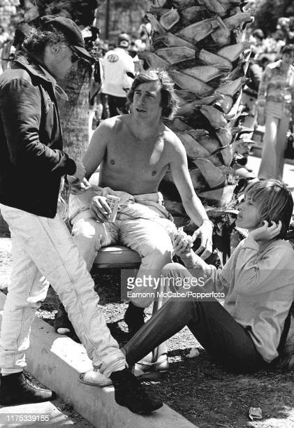 Austrian racing driver Niki Lauda and British racing driver James Hunt at the Monaco Grand Prix in Monte Carlo circa May 1978 James Hunt began his...