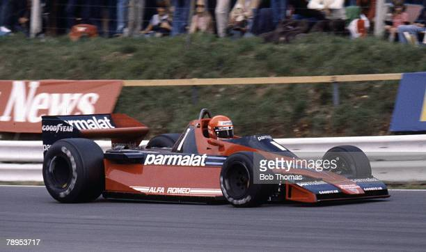 Austrian racing driver Niki Lauda drives the Parmalat Racing Team Brabham BT46 Alfa Romeo 11512 30 F12 to finish in 2nd place in the 1978 British...