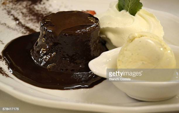 Austrian sacher cake with whipped cream
