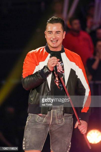 Austrian singer Andreas Gabalier during the television show 'Schlagerchampions Das grosse Fest der Besten' at Velodrom on January 12 2019 in Berlin...