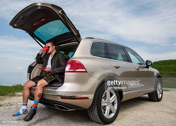 Austrian singer Andreas Gabalier poses during a portrait session on May 13 2015 in Berchtesgaden Germany