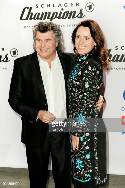 Austrian singer Andy Borg and his wife Birgit attend the 'Schlagerchampions Das grosse Fest der Besten' TV Show at Velodrom on January 13 2018 in...