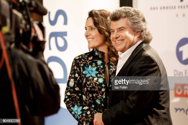 Austrian singer Andy Borg and his wife Birgit Borg attend the 'Schlagerchampions Das grosse Fest der Besten' TV Show at Velodrom on January 13 2018...
