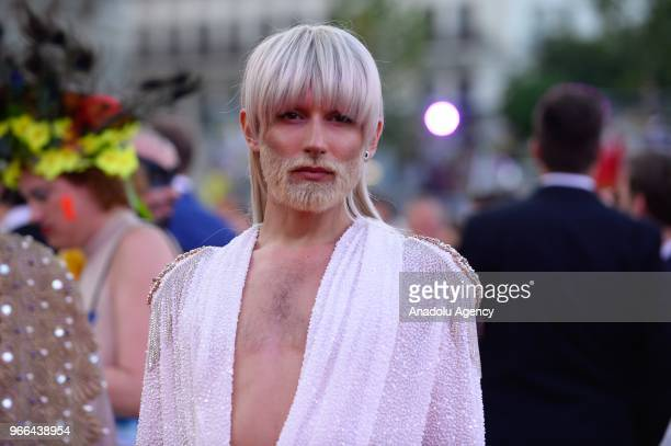 Austrian singer Conchita Wurst arrives for the 25th Life Ball at Rathaus City Hall in Vienna Austria on June 02 2018 The Life Ball an annual charity...