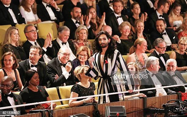 Austrian singer Conchita Wurst attends the 23rd Opera Gala at Deutsche Oper Berlin on November 5 2016 in Berlin Germany