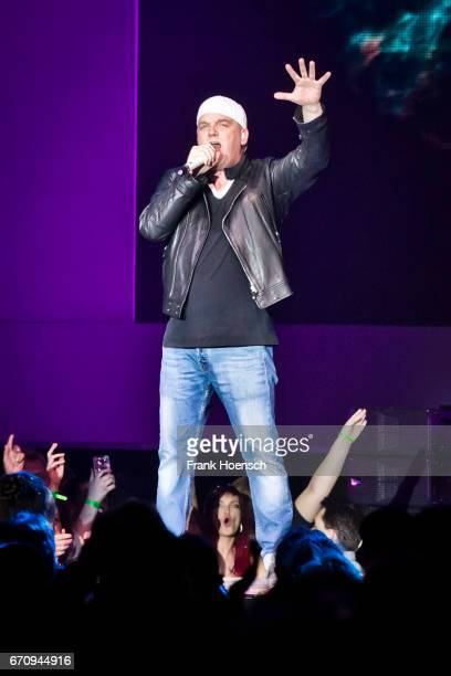 Austrian singer DJ Oetzi performs live during the show 'Das grosse Schlagerfest' at the MercedesBenz Arena on April 20 2017 in Berlin Germany