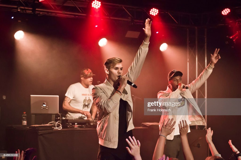 Austrian singer Marcel Daehne aka KS Freak performs live on stage during a concert at the Frannz on September 13, 2017 in Berlin, Germany.