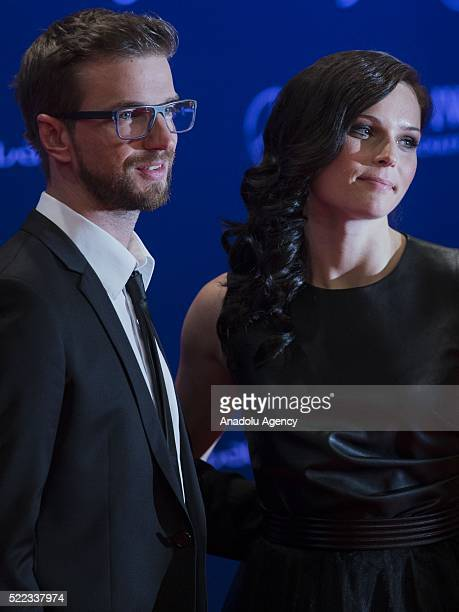 Austrian skier Anna Fenninger and her husband Manuel Veith attend the 2016 Laureus World Sports Awards at Messe in Berlin Germany on April 18 2016