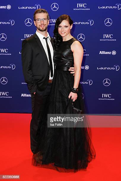 Austrian skier Anna Fenninger and her husband Manuel Veith attend the Laureus World Sports Awards 2016 on April 18 2016 in Berlin Germany
