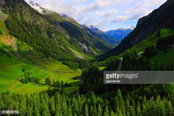 austrian tirol alpine landscape, innsbruck, hohe tauern, kaunertal mountain road - carinthia stock pictures, royalty-free photos & images