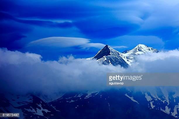 Austrian Tirol Alpine storm clouds, Innsbruck, Hohe Tauern, Grossglockner