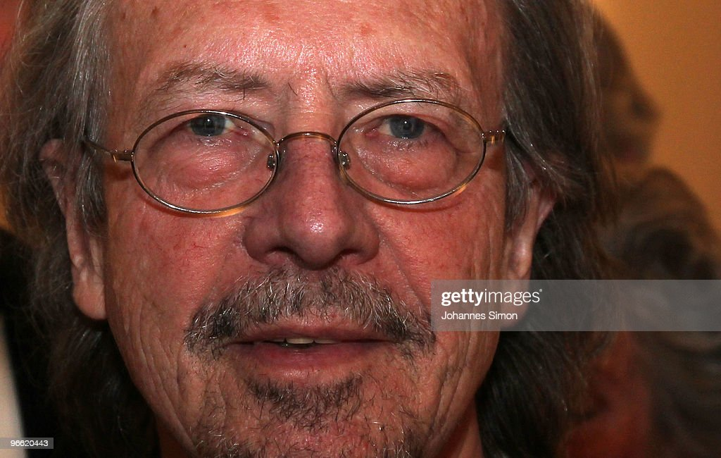 Austrian writer Peter Handke arrives for the Hubert Burda Birthday Reception at Munich royal palace on February 12, 2010 in Munich, Germany.